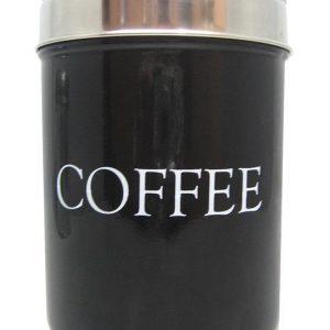Musta kahvipurkki