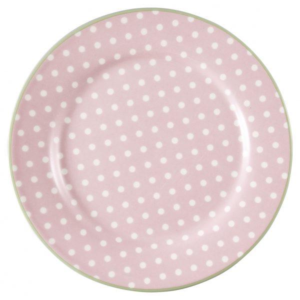 Greengate lautanen Spot pale pink